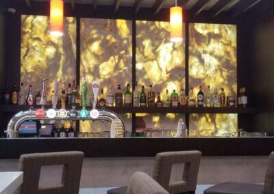 Backlit Panel in a Bar
