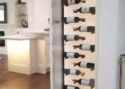 Acrylic Panel on a Wine Rack