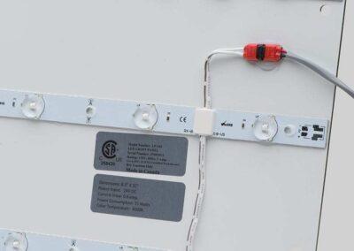 Wire Exit on LED Backlit Light Panel