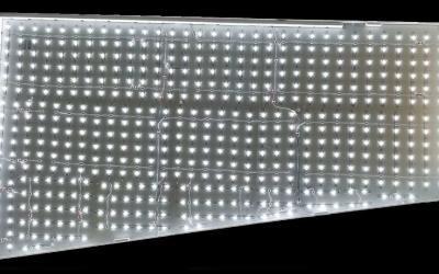 An Irregular Shape Backlit Fabric Light Box
